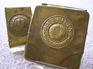 Gott Mit Uns Cigarette Case and Matchbox Holder