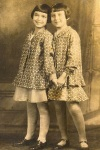 1929 My mom (on right) with her cousin Ethyle in outfits hand made by my grandmother