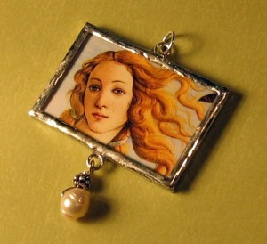Glass Slide Pendant - Venus was Her Name