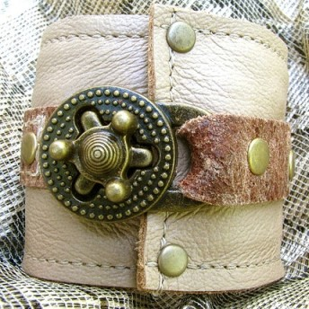 Steampunk Unisex Cuff with Secret Pocket by sewlutionsbyamo
