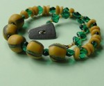 Ghanaian Meets Bohemian African and Czech Glass Necklace