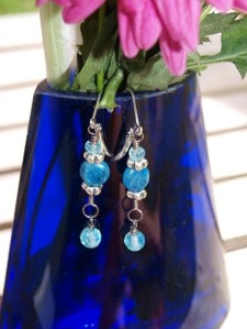Blue Gemstone Earrings donated by Samantha33