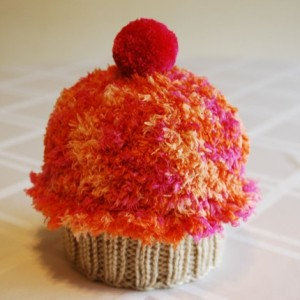 Orange Raspberry Cupcake Hat
