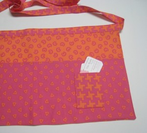 Orange and Raspberry Sherbet Vendor Apron
