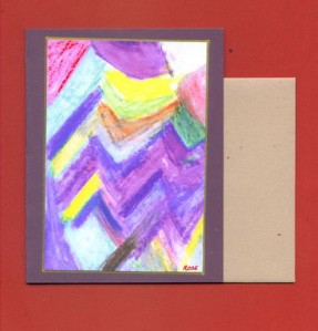 Abstract Art Note Card