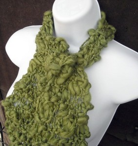 Age of Asparagus Sage Green Chunky Scarf