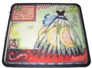 Asparagus Dress Mousepad
