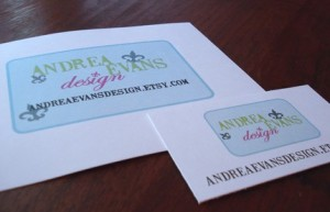 Customized Etsy Shop Stationery