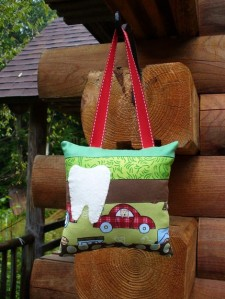 Fireman Bear Tooth Fairy Pillow