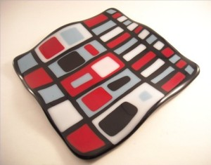 Hip or Square Fused Glass Plate