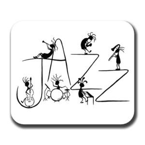 Kokopelli Jazz Art Print Mouse Pad
