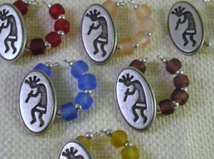 Kokopelli Wine Charms