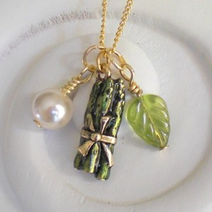 Little Asparagus Charm Necklace