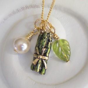 Little Asparagus Charm Necklace