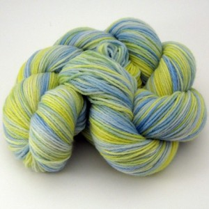 Merino Wool Sock Yarn in Summer Day