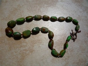 Kingman Turquoise Mohave Green Necklace