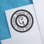 Polka Dot Round Customized Address Stamp