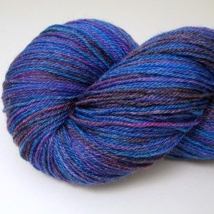 Superwash Merino Bamboo Yarn in Blues, Purples and Fuchsia