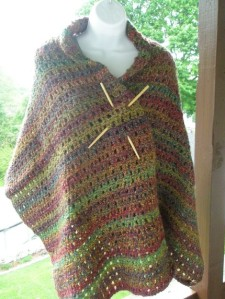 Crocheted Large Shawl in Multiple Colors
