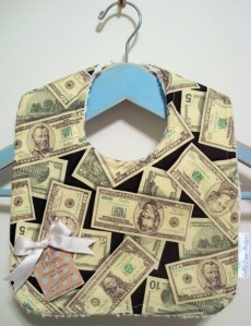 Million Dollar Baby - Chenille Baby Bib by colbylanedesigns