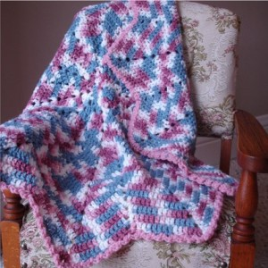 Baby Girl Round Ripple Variegated Blanket