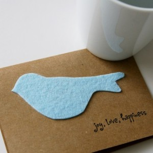 Baby Blue Little Birdie Card