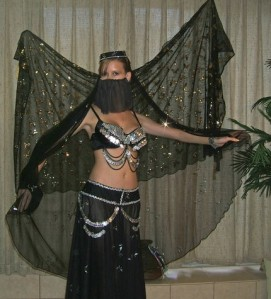 Cabaret Bellydance Costume Butterfly at Midnight by PashasBoutique