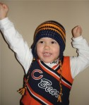 Chicago Bears Crochet Earflap Hat