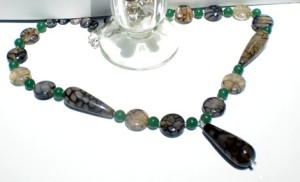 Dragon Vein Agate Necklace OOAK