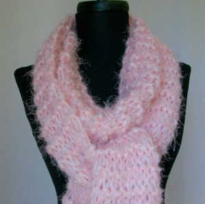 Hand Knit Pinkalicious Scarf by foxygknits