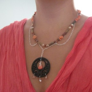 Sunset Bohemian Medallion Necklace