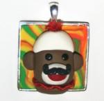 Mustache Monkey Pendant by SpiritMama