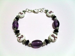 Purple Awareness Ribbon Bracelet Donna