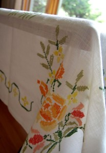 Cross-Stitch Table Cloth