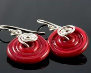 Earrings Lampwork and Sterling