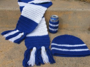Scarf, Beanie and Beer Cozy