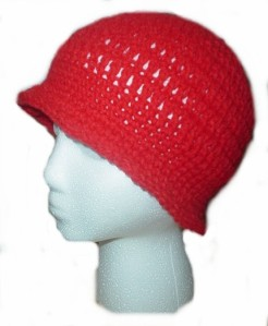 Cloche red crochet