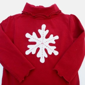 Red Snapsuit Snowflake