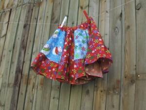 Snowman Twirl Skirt