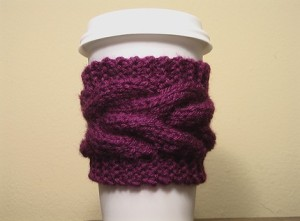 Coffee Cup Cozy Purple