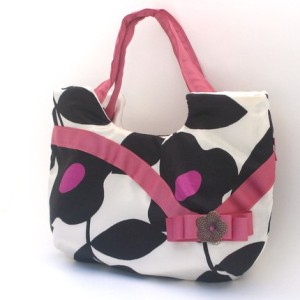 handbag purse pink brown