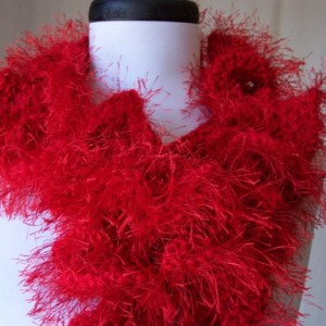 red ruffles scarf
