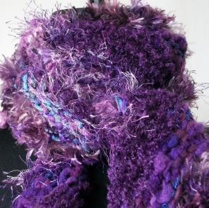 Amethyst  scarf hand knit