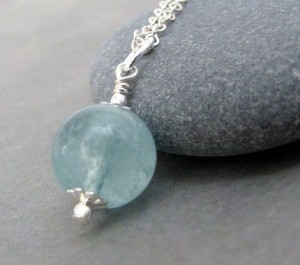 necklace aquamarine