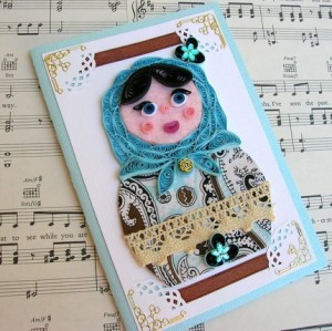 paper quilling Russian nesting doll