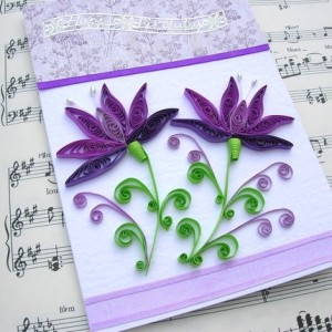 quilling flower purple